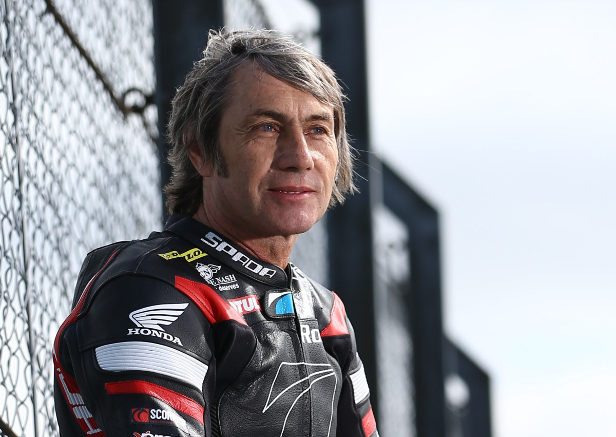 Grand Prix motorcycle road racer Ron Haslam