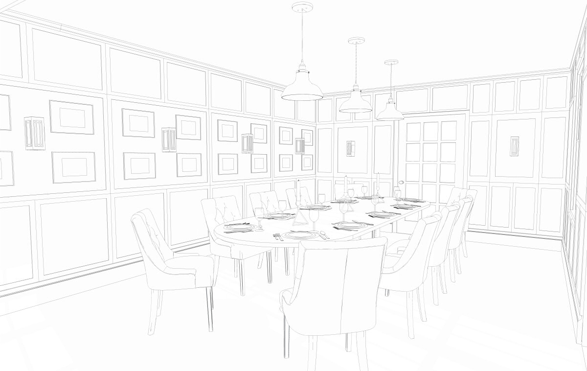 A view of how the private dining area will look