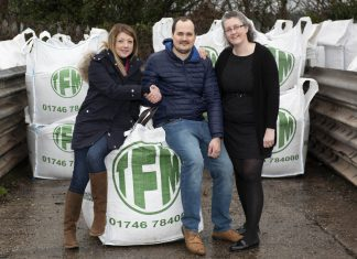Hannah Littleford, of TFM, with Alex and Helen Culshaw, of Ascendancy