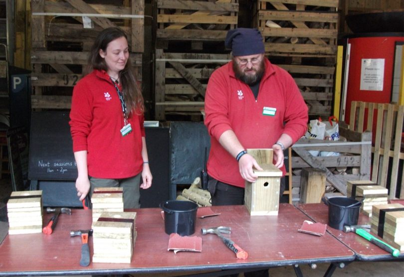 The National Trust's Carding Mill Valley team will be rather bird brained this February half term