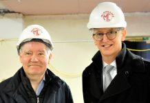 Ray Hughes Director of the Wellington Orbit with Mark Freeman from Henshalls