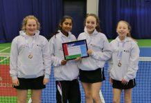 Ellesmere College year 7 and 8 girls tennis team
