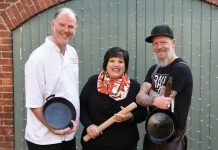 Chefs Richard Fletcher, Lajina Leal and Chris Burt