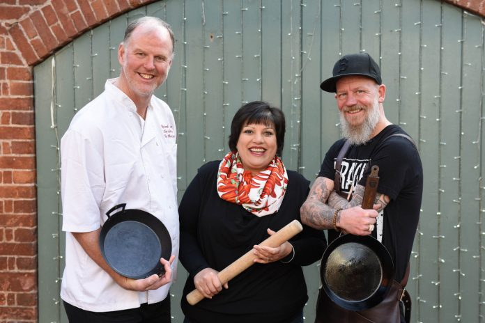 Chefs Richard Fletcher, Lajina Leal and Chris Burt