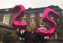 Lisa Snape celebrates 25 years at the Best Western Valley Hotel in Ironbridge
