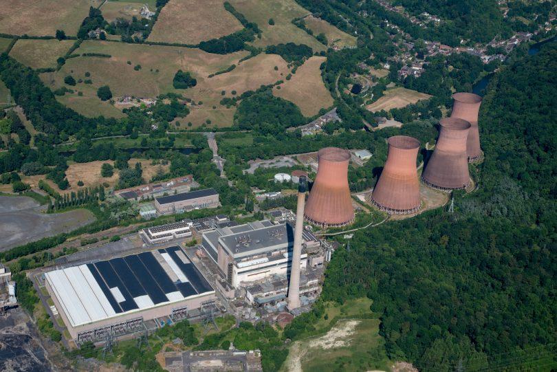 The Ironbridge Power Station site before demolition