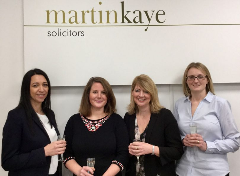 Emma Palmer, Alison Thornton, Clare Pitchford and Suzanne Lees from Martin-Kaye Solicitors
