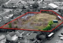 A development of one, two, three and four-bedroom homes is planned for the site which is outlined