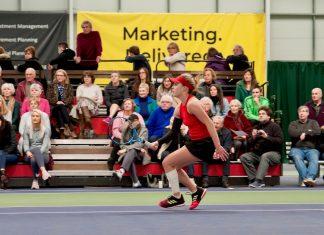 Maia Lumsden impressed again to reach the last eight of the Budgen Motors World Tennis Tour W60 Shrewsbury tournament. Photo: Richard Dawson Photography