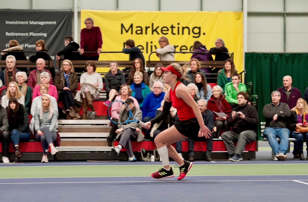 Maia Lumsden impressed again to reach the last eight of the Budgen Motors World Tennis Tour W60 Shrewsbury tournament. Photo: Richard Dawson Photography