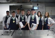 Some of the team who went to the North Warwickshire and South Leicestershire College Salon Cullinaire