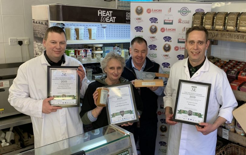 The Cherrington Farm Butchery team Daniel Griffiths, Bev Mcintyre, Andrew Crow and Darren Wood