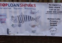 Pupils have designed a poster warning people of the dangers of illegal money lending