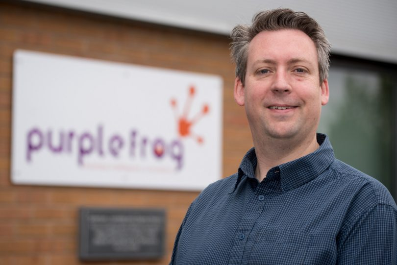 Alex Whittles, managing director of Purple Frog Systems Ltd