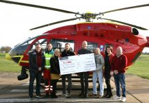 Members of the Severn Business Network group raised £6,000 for the Midlands Air Ambulance Charity
