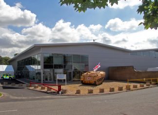 The HQ at SP Services in Telford where there the gauze will be distributed across the UK