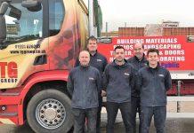 Some of the team ready for the Shrewsbury 10K challenge are, from left Doug Jones, Paul Morris, Dan Evans, John Wickwar, Connor Williams