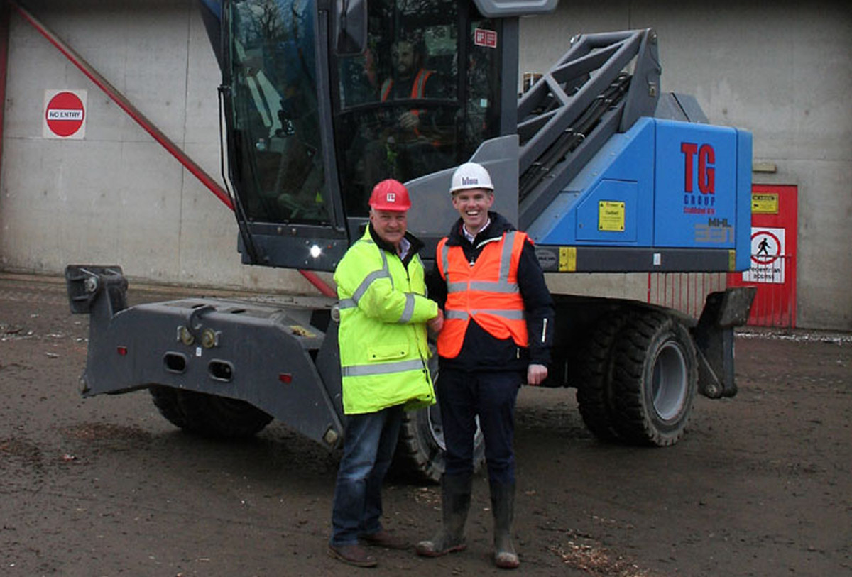 TG Group managing director Tudor Griffiths and Aidan McGeary, managing director of Blue Group with the new machinery