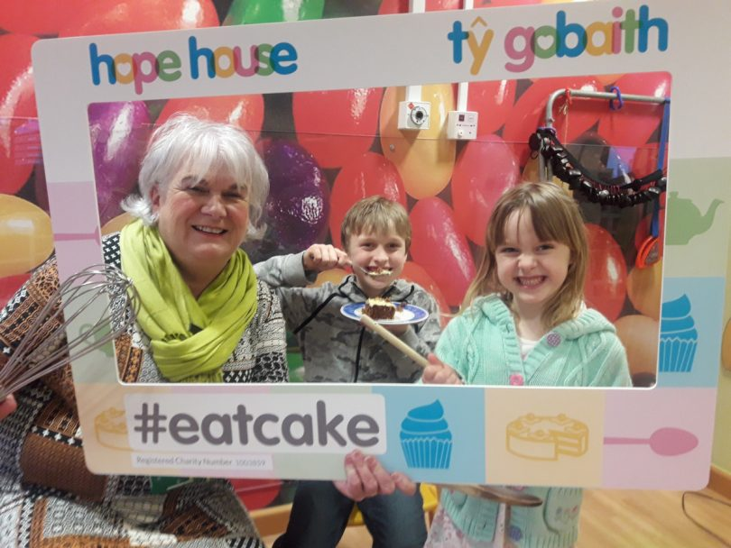 Ceinwen, Alex and Izzy get creative with cakes in preparation for the Hope House and Ty Gobaith Eat Cake Week 2019