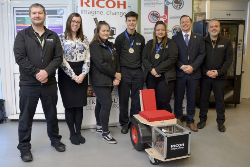 Ricoh apprentices earned bronze medals at the world skills competition by building a wheelchair from scratch