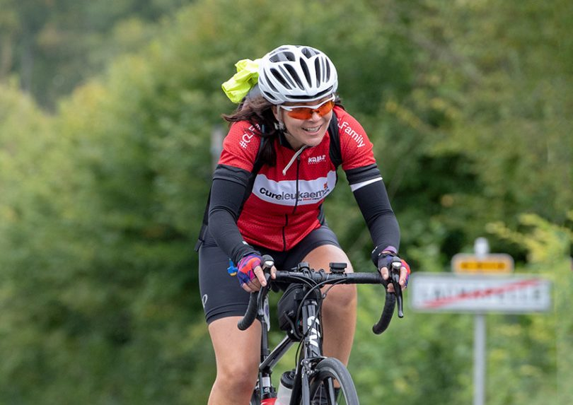 Maggie Kennerley, a Transformation Midwife from Shropshire, who is taking part in the Velo Birmingham & Midlands to raise money for Cure Leukaemia