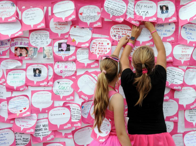Taking part in Race for Life events enables like-minded people to get together and remember loved ones lost to cancer or celebrate the lives of those who have survived