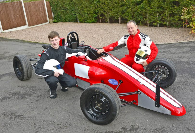 Tom and Richard Weaver with their immaculate Formula Ford