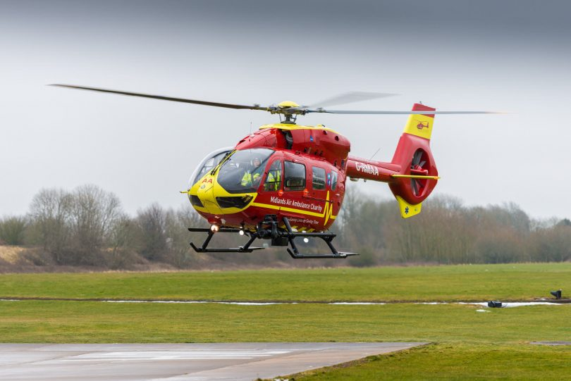 Barratt Homes has chosen the Midlands Air Ambulance Charity as their Charity of the Year