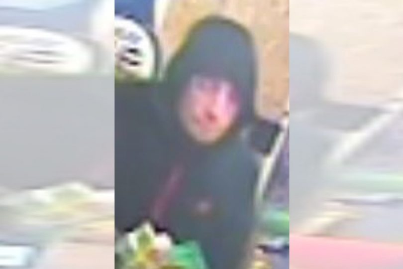 Detectives from West Mercia Police would like to speak to the man pictured in the CCTV image in connection with the robbery