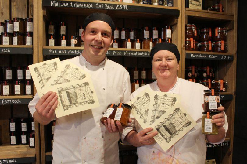 Darren and Tess Dalmain with the marmalade awards