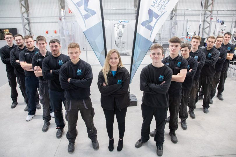 Apprentices at the Marches Centre of Manufacturing & Engineering