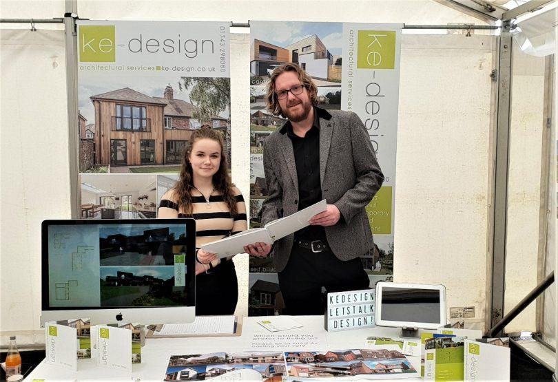Caitlin Morgan with Ke-design director Craig Marston