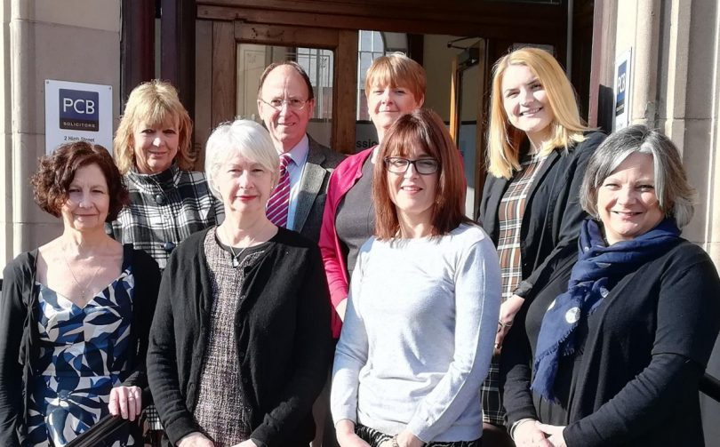 The PCB Solicitors Church Stretton team – Fiona Goodwin, Lorraine Duncan, Jenny Russell, Mark Harvey, Julie Griffiths, Sarah Evans, Kirsty Gibbs-Mellings and Nicola Pugh