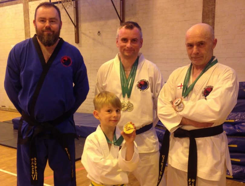Pictured, instructor Gary Plant, Albert, Marcin and David
