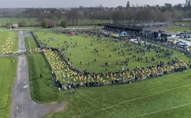 A view of the Schools Half Marathon which took place at Shropshire County Showground