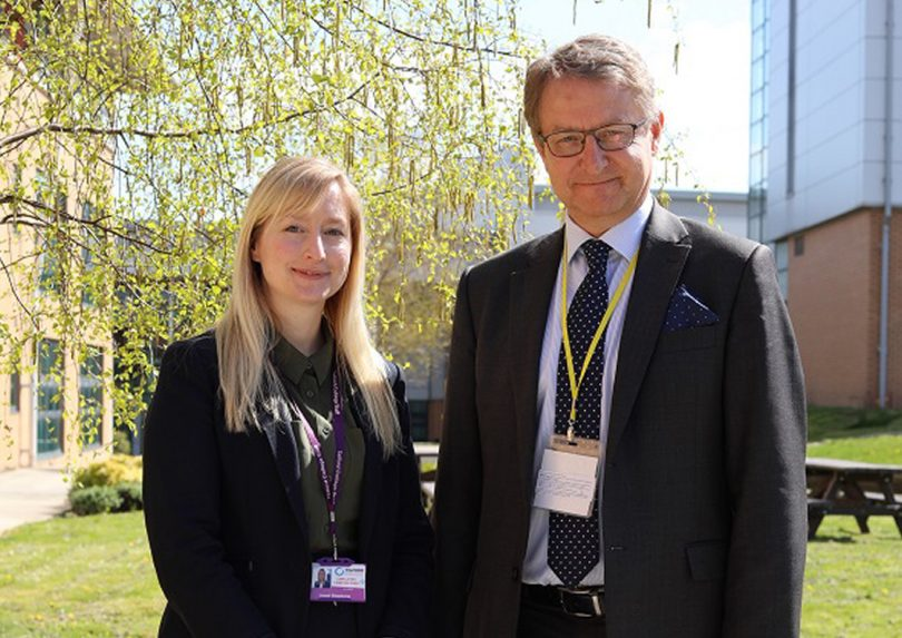 Simon Witts with Telford College deputy principal Janet Stephens, at the college's Haybridge campus