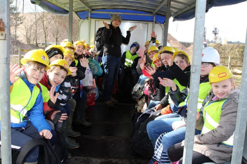 School children visit the TG Group site at Wood Lane, in Ellesmere