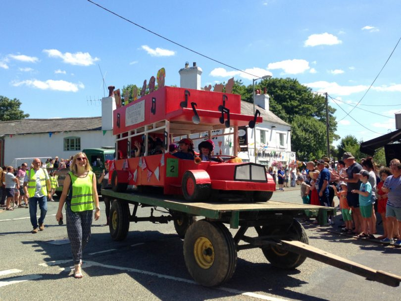 The carnival parade will see decorated floats touring through the village