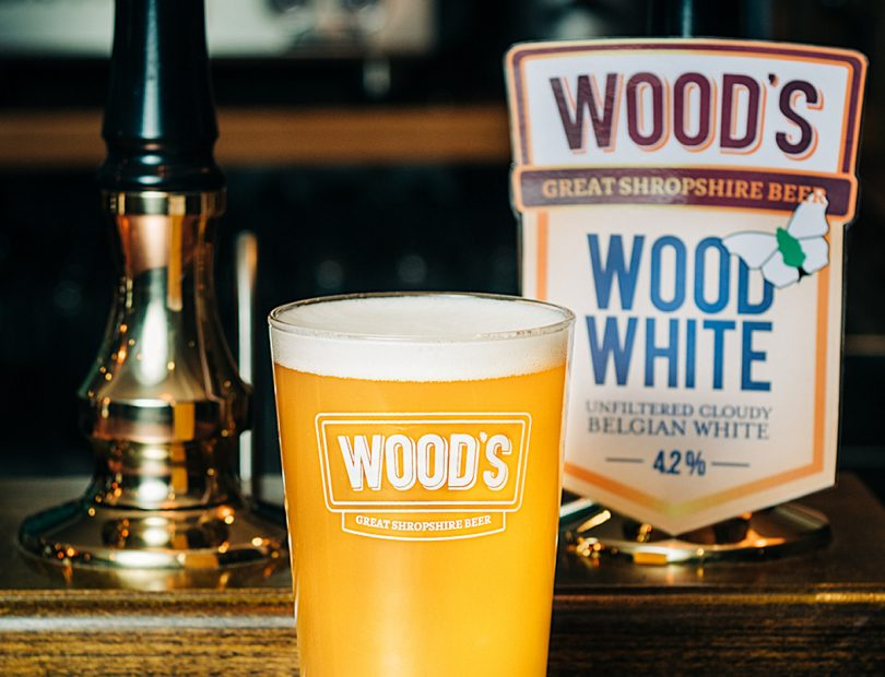 Wood White is a cloudy, Belgian white beer