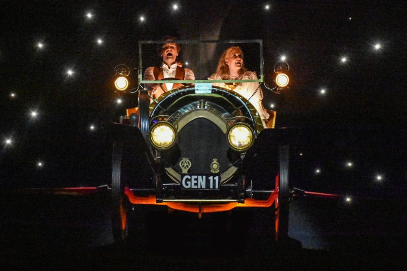 The production featured not one, but three cars including an authentic Chitty