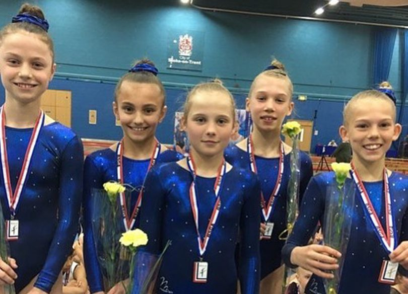 Shrewsbury High gymnasts who represented the West Midlands and came 2nd nationally