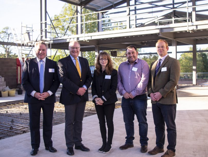 Simon Baynes, Chair of the Holroyd Community Theatre Jonathan Forster, Principal, Moreton Hall Loveday Ingram, Artistic Director of the Holroyd Community Theatre  Chris Jones, Managing Director of Jones Brothers Weston Rhyn Ltd Simon Hughes, Director SP Projects