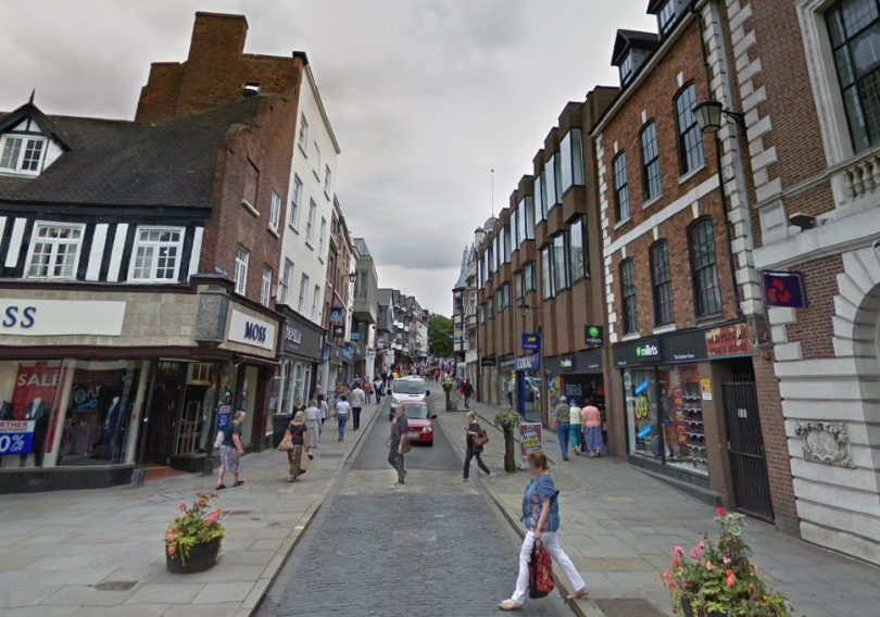 The work will take place on Mardol Head in Shrewsbury. Image: Google Street View