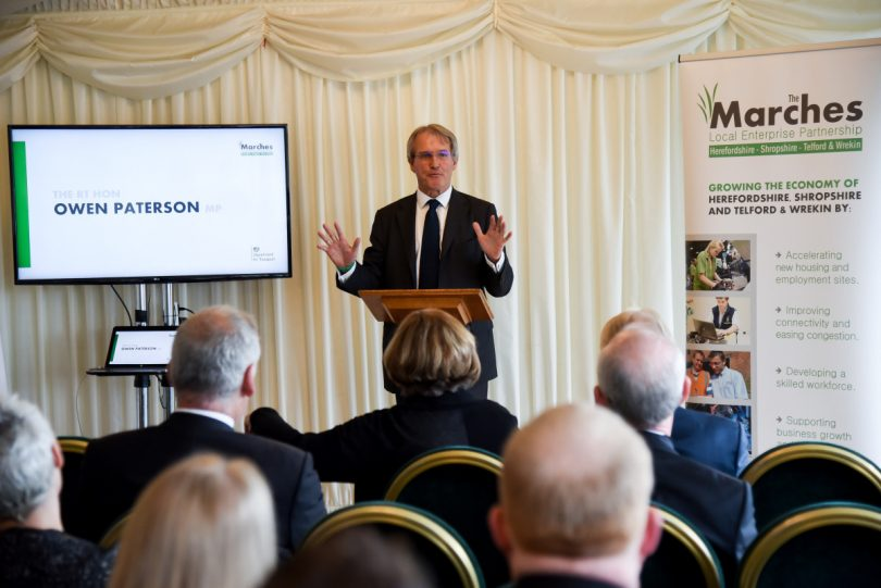 Owen Paterson MP welcomes guests to the event held in Westminster