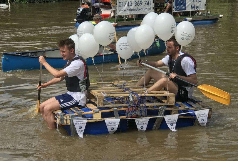 All action at last years Shrewsbury River Festival Raft Race