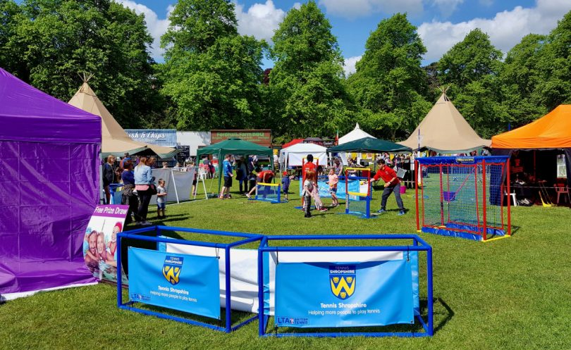 Tennis Shropshire will be inviting youngsters to try tennis at the Shropshire Kids Festival in Shrewsbury's Quarry Park this weekend