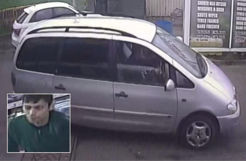 Officers are keen to trace the man and vehicle pictured to assist with their enquiries. Images: West Mercia Police