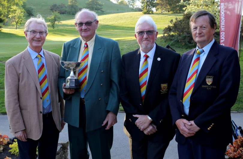 Event Sponsor - Mike Duke, Winner of the Duke Trophy – Chris Bennett, Captain – Colin Turner and Seniors Captain – Charles Stadnik