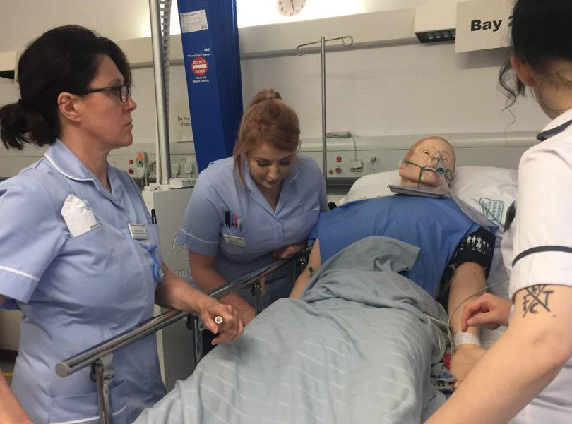 New nurses to A&E departments are undergoing intense training sessions in a new Simulation Suite