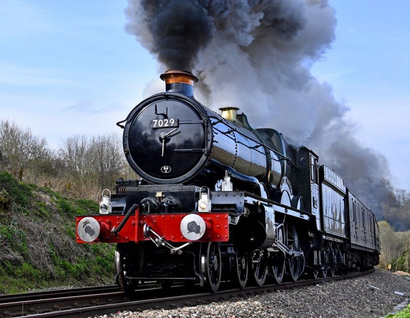 Heritage locomotive Clun Castle will be steaming into Ironbridge this Sunday. Photo: Vintage Trains